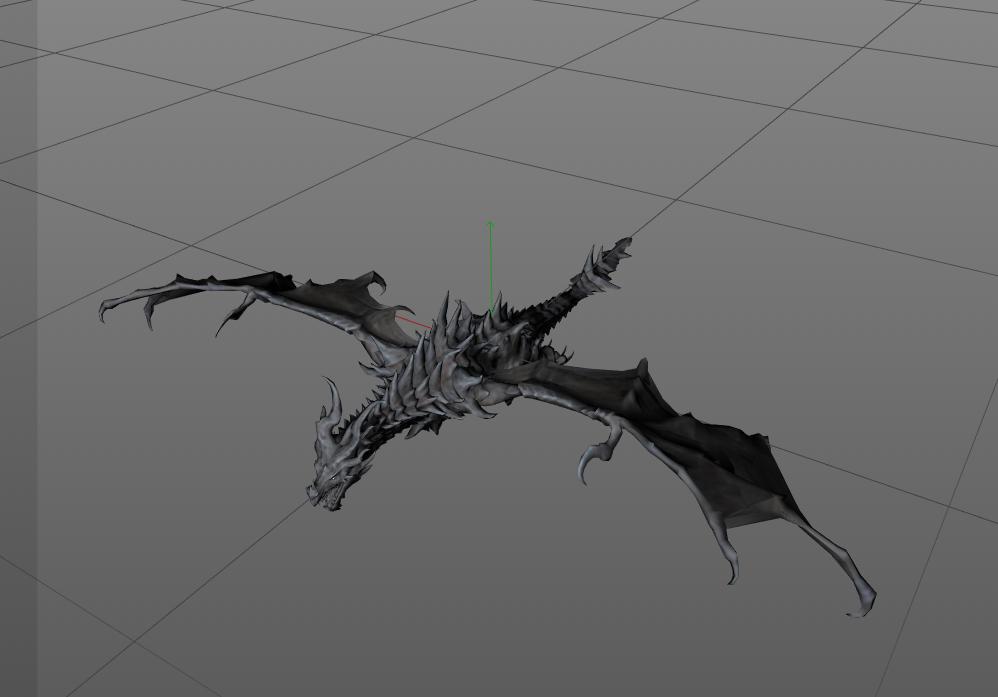 带动作,绑定飞龙模型,C4D格式