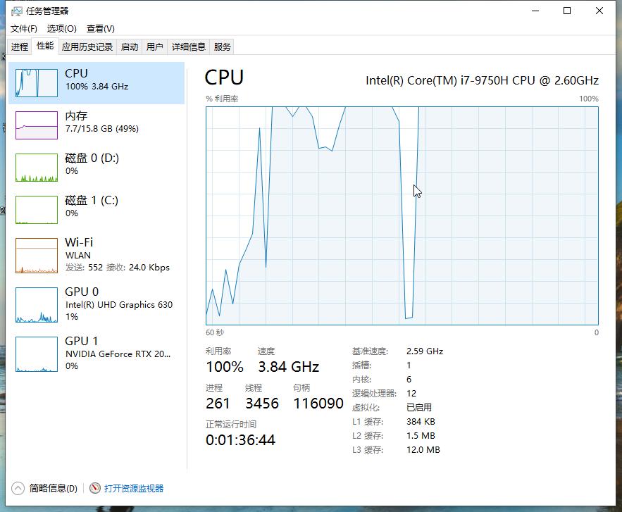 CPU型号: i7—9750H  GPU型号: RTX2070 MAX-q