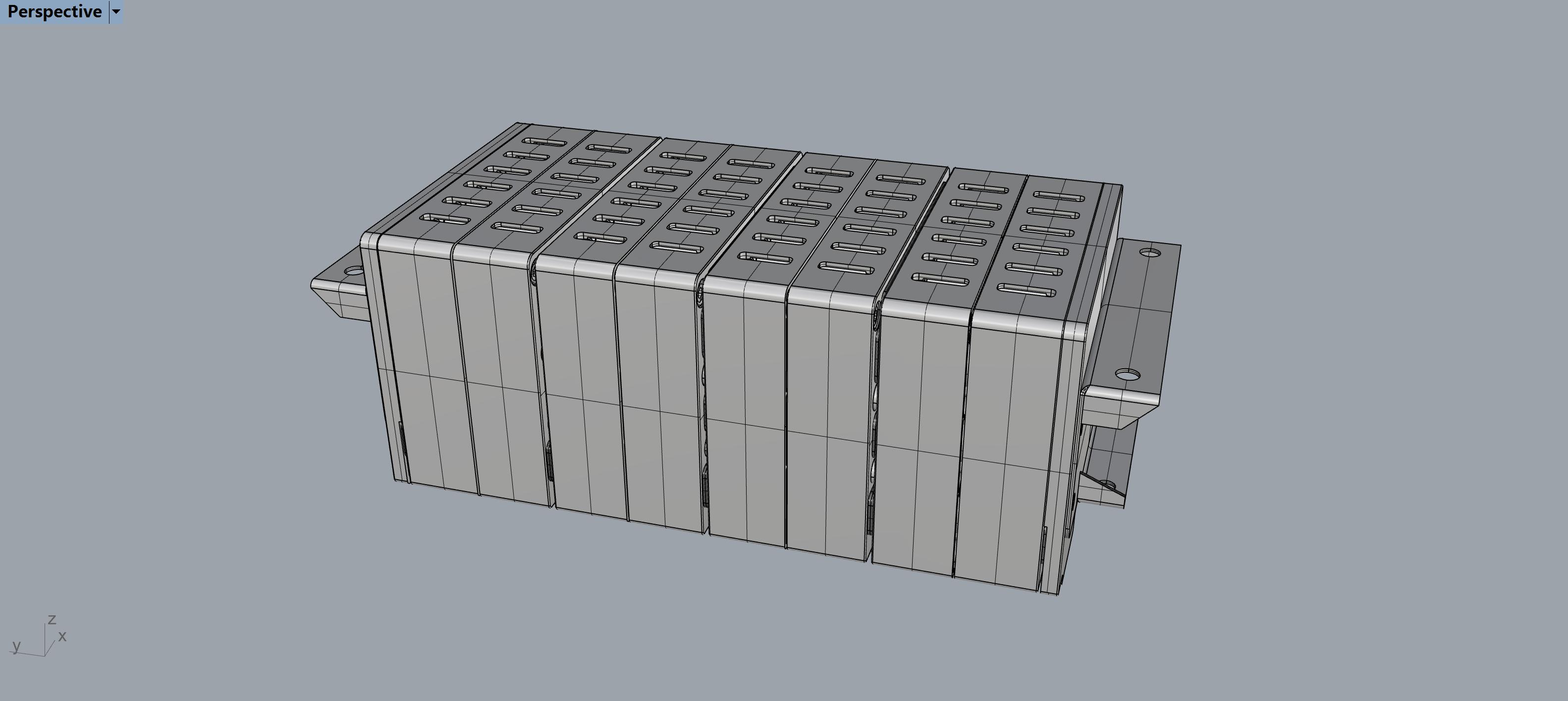 特斯拉18650锂电池标准模组3D模型
