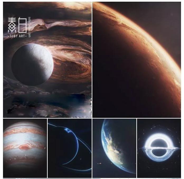 九大行星模型及贴图,C4D格式,带贴图